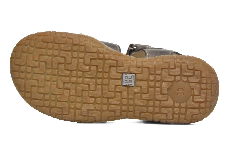 Sandales et nu-pieds Noël Tyler Gris vue haut