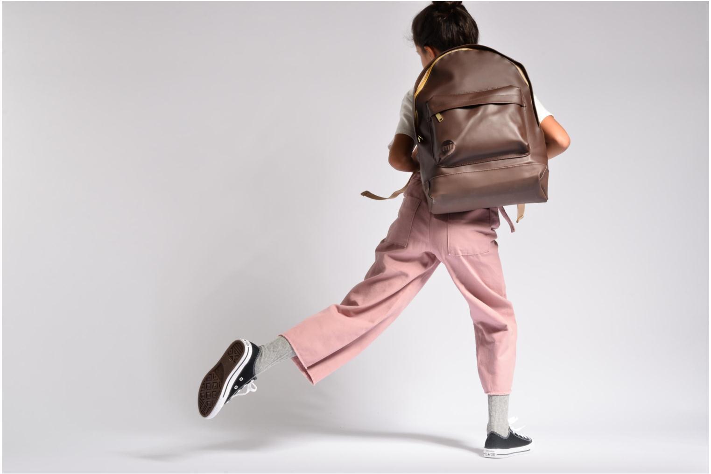 Sacs à dos Mi-Pac Gold Backpack Or et bronze vue haut