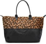 Leopard/Black canvas tumbled