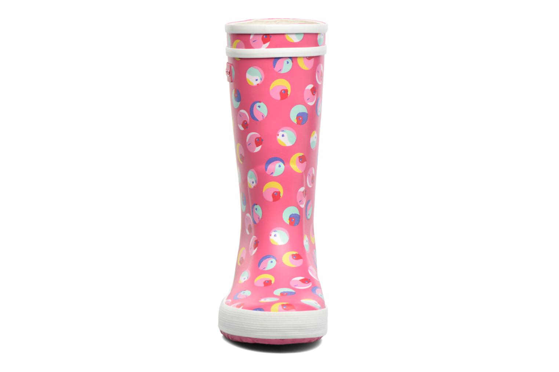 Bottes Aigle Lolly Pop Glittery 2 Rose vue portées chaussures
