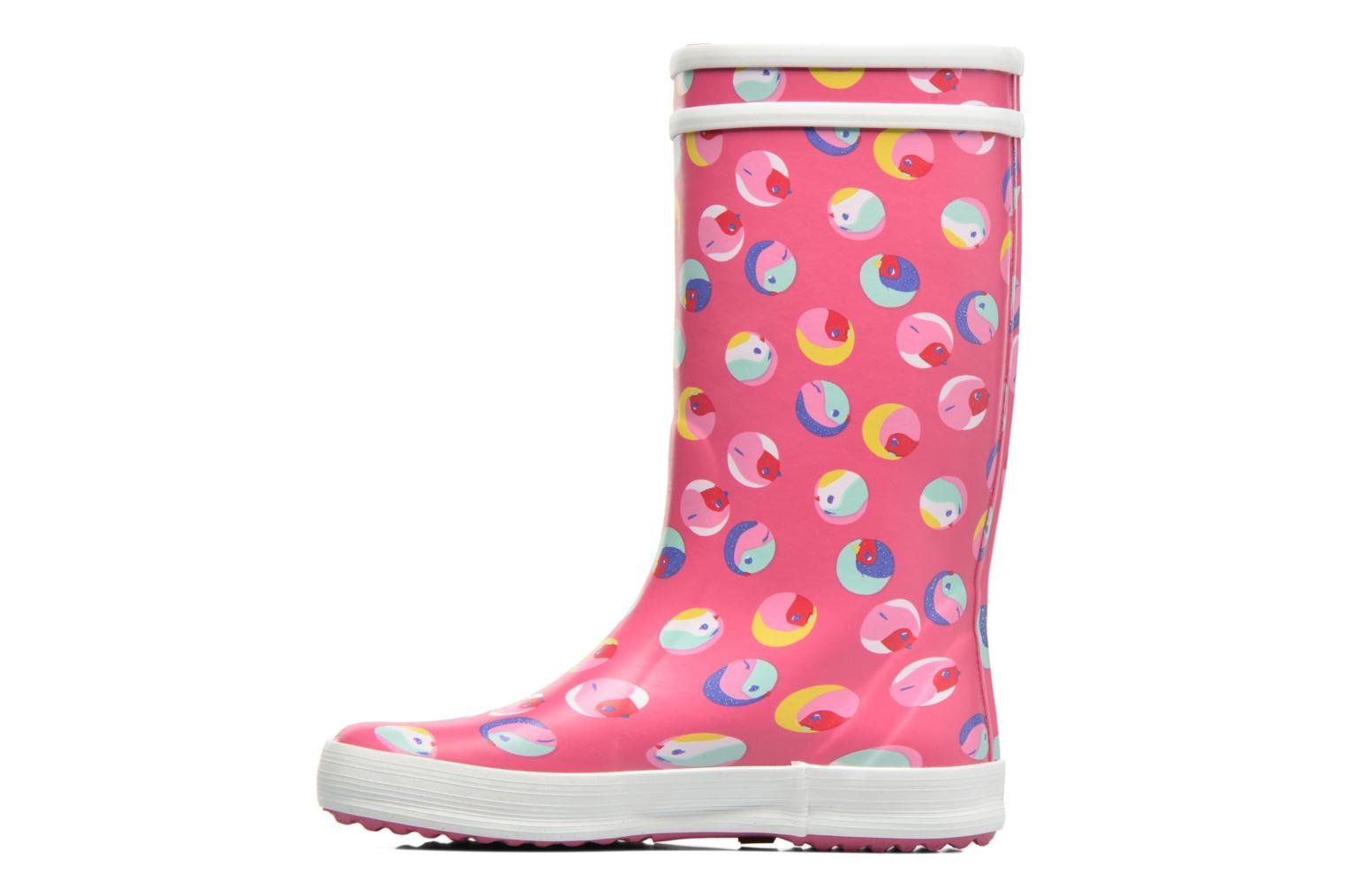 Bottes Aigle Lolly Pop Glittery 2 Rose vue face