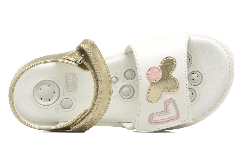 Sandales et nu-pieds Chicco Clarinda Blanc vue gauche