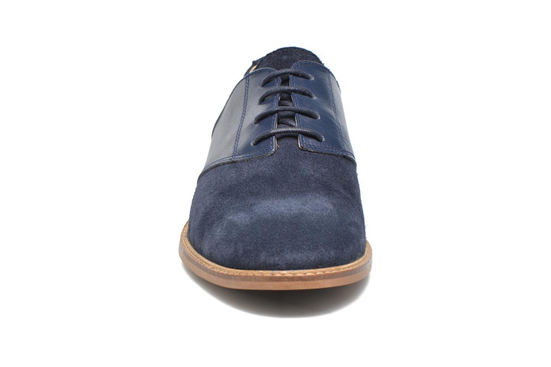 Chaussures à lacets M. Moustache Maurice Bleu vue portées chaussures
