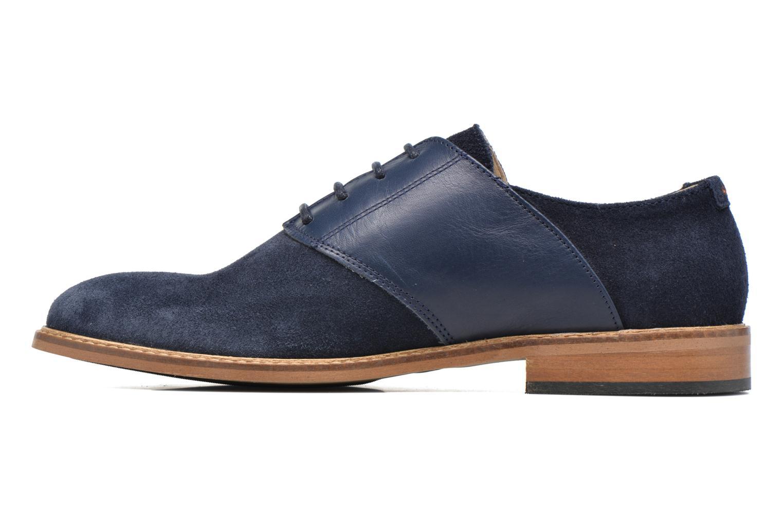Chaussures à lacets M. Moustache Maurice Bleu vue face