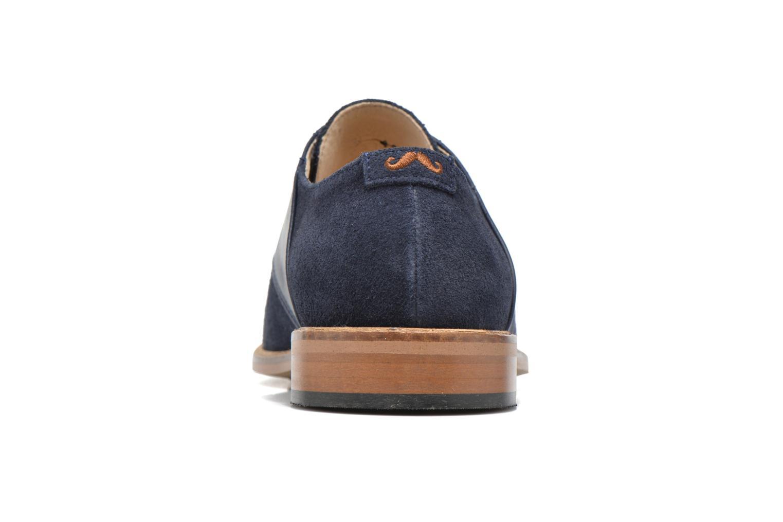 Chaussures à lacets M. Moustache Maurice Bleu vue droite