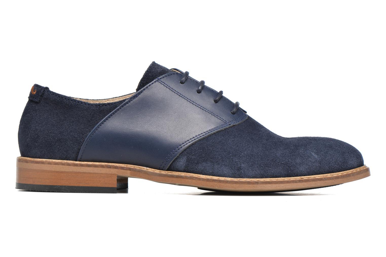 Chaussures à lacets M. Moustache Maurice Bleu vue derrière