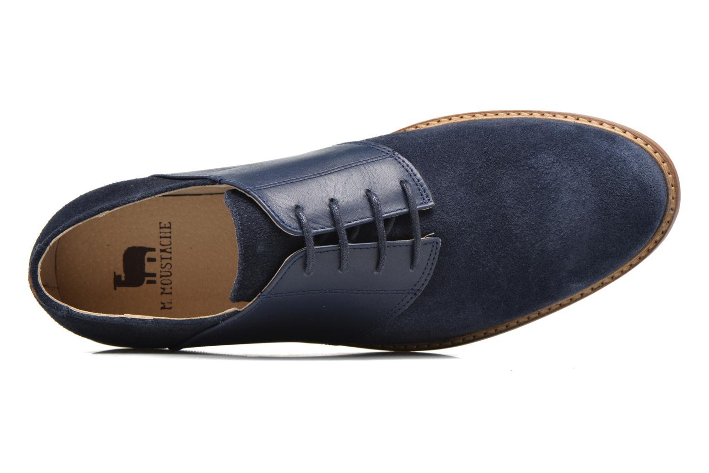 Chaussures à lacets M. Moustache Maurice Bleu vue gauche