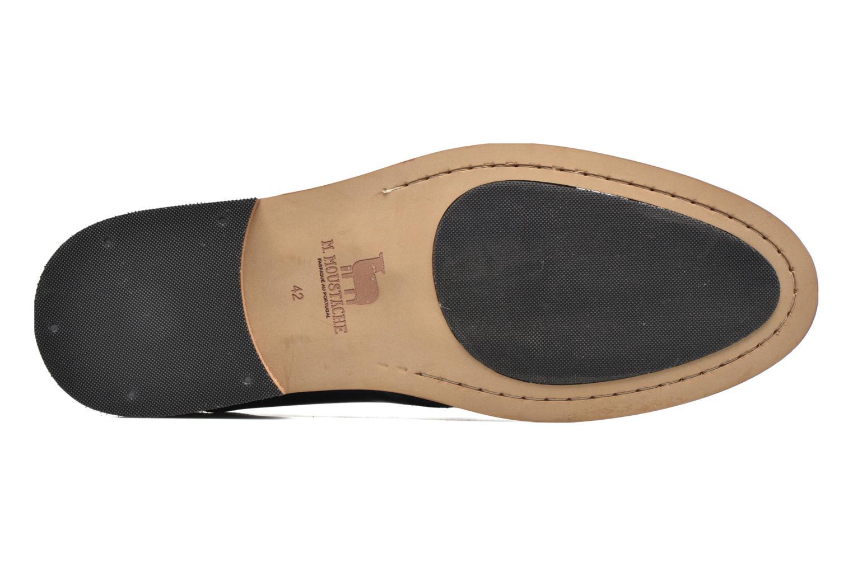 Chaussures à lacets M. Moustache Maurice Bleu vue haut