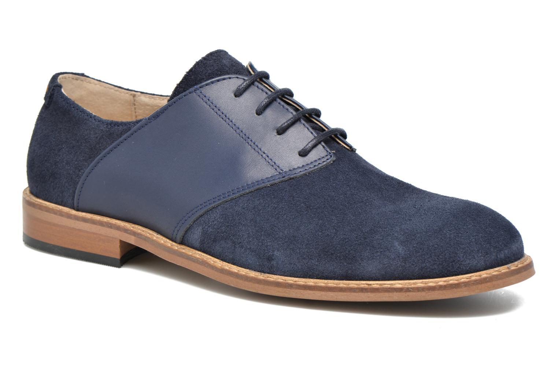 Chaussures à lacets M. Moustache Maurice Bleu vue détail/paire