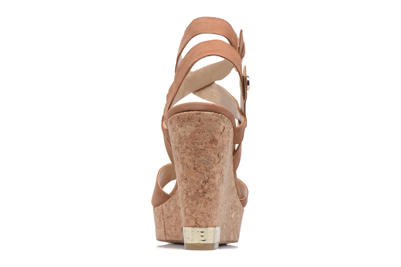 Sandales et nu-pieds Guess HARANA Marron vue droite