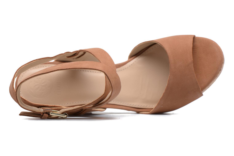 Sandales et nu-pieds Guess HARANA Marron vue gauche