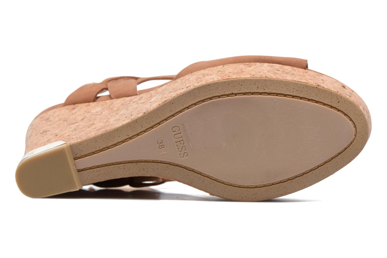 Sandales et nu-pieds Guess HARANA Marron vue haut