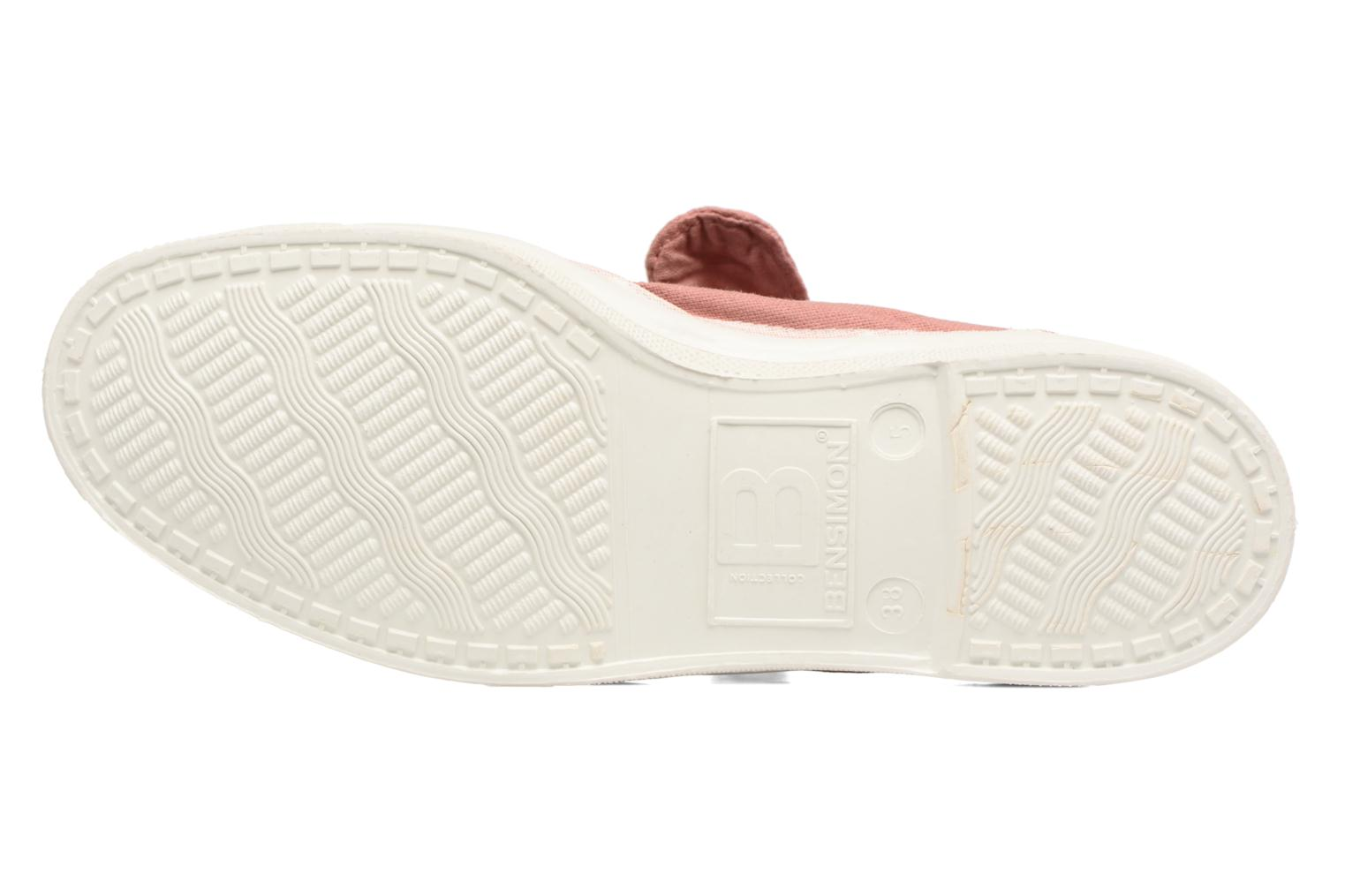 Ballet pumps Bensimon Tennis Flo Pink view from above