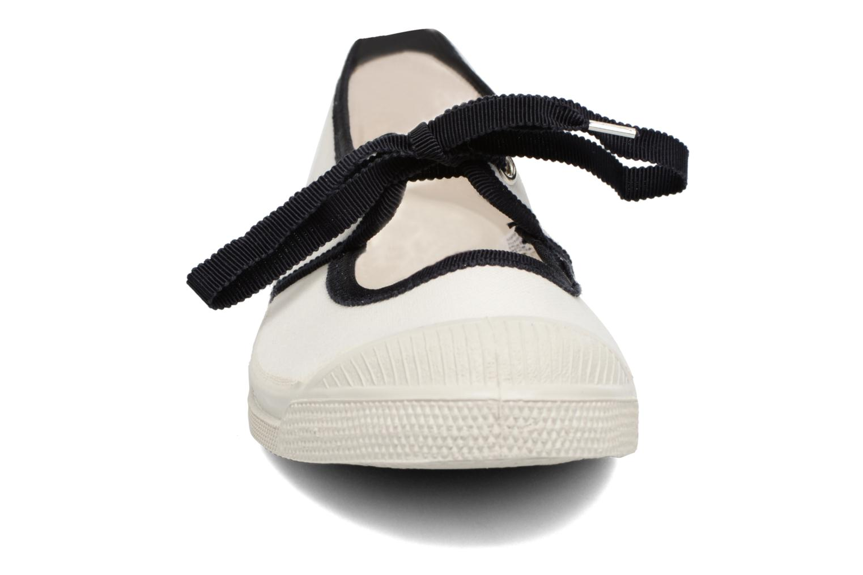 Ballet pumps Bensimon Tennis Gros Grain White model view