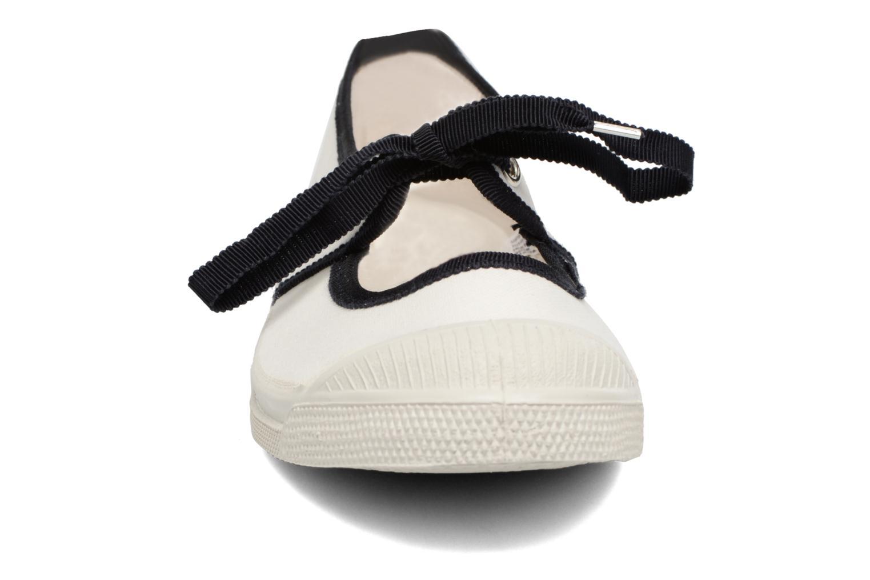 Ballerines Bensimon Tennis Gros Grain Blanc vue portées chaussures