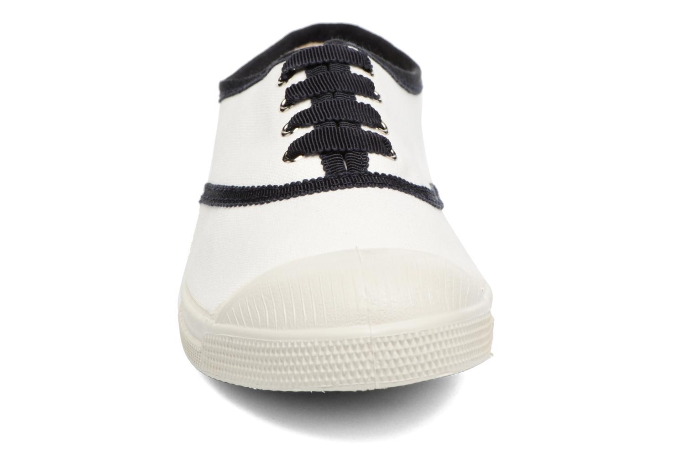 Baskets Bensimon Tennis Lacet Gros Grain Blanc vue portées chaussures