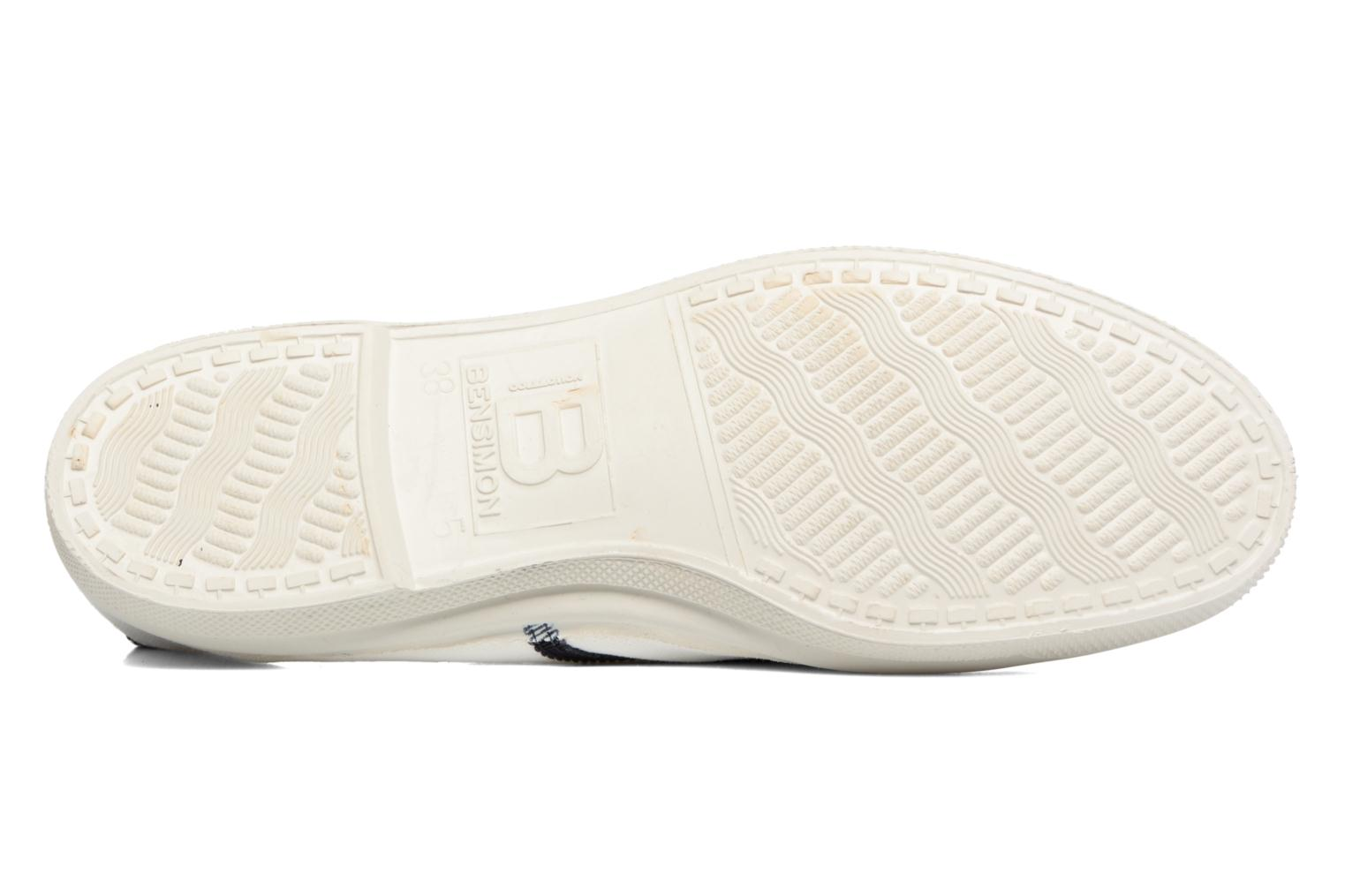 Trainers Bensimon Tennis Lacet Gros Grain White view from above
