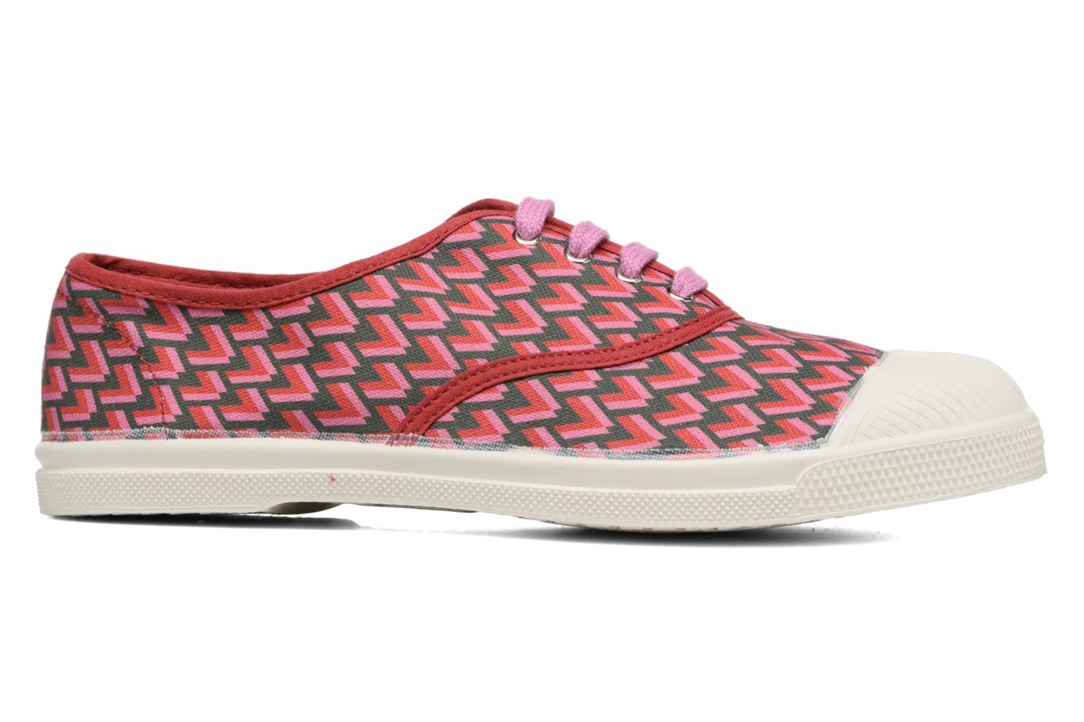 Trainers Bensimon Tennis Retro Triangle Pink back view