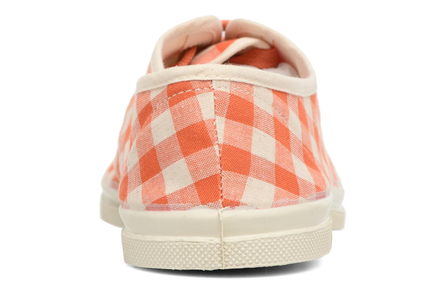 Trainers Bensimon Tennis Vichy Lin Orange view from the right