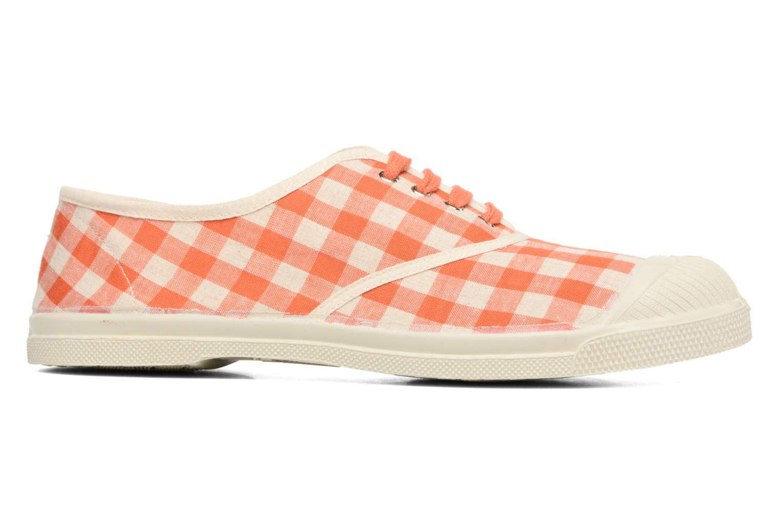 Trainers Bensimon Tennis Vichy Lin Orange back view
