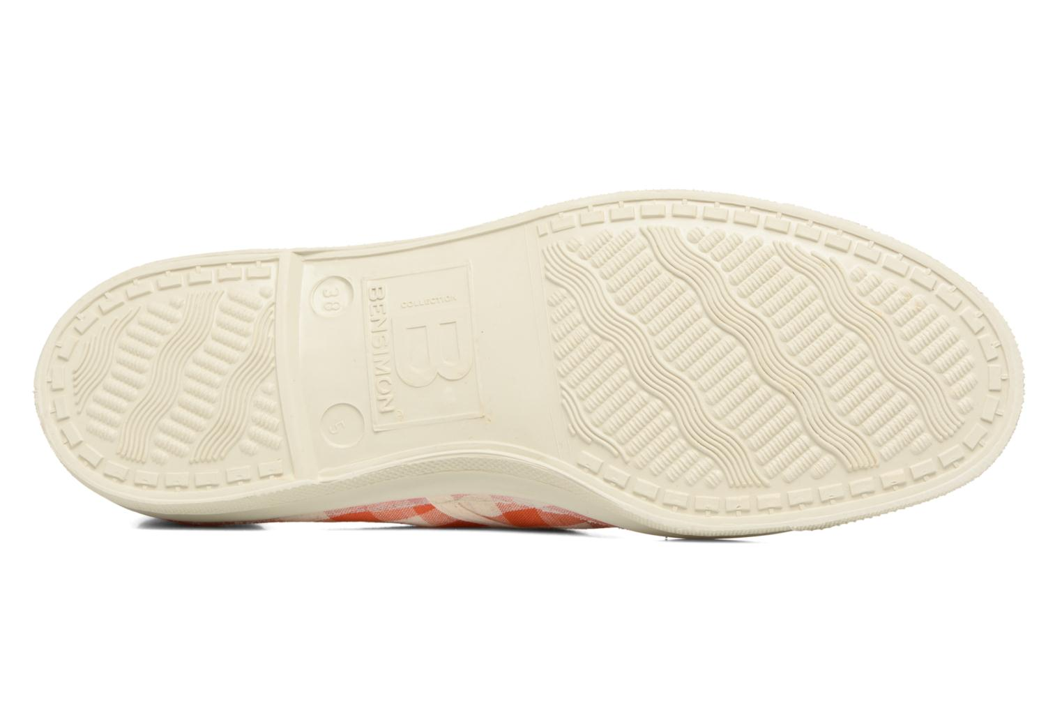 Trainers Bensimon Tennis Vichy Lin Orange view from above