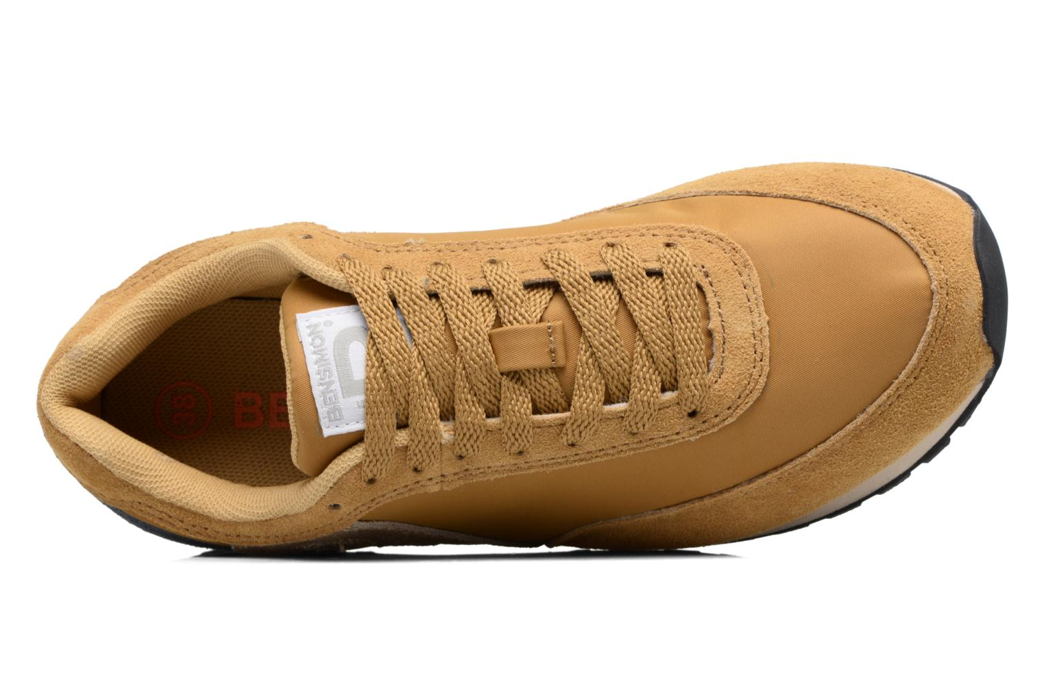 Trainers Bensimon Runnings Yellow view from the left