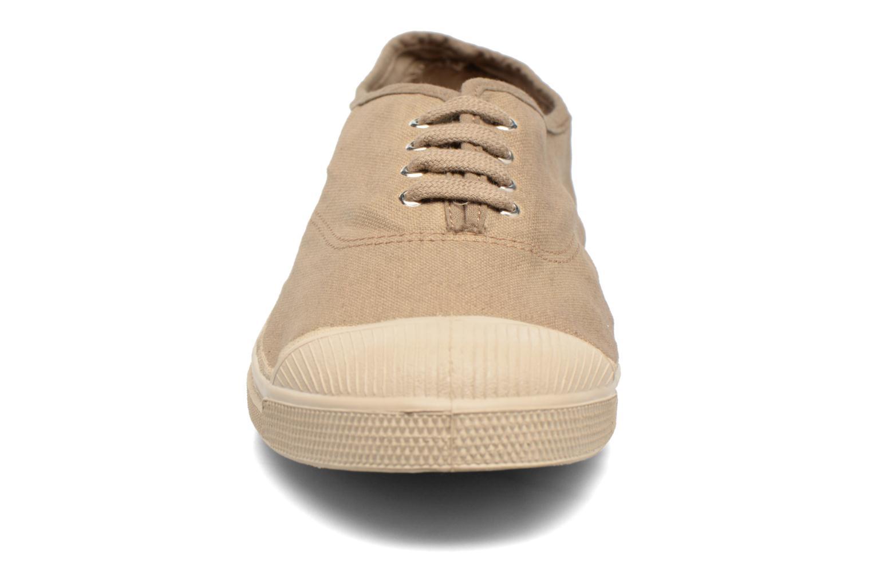 Baskets Bensimon Tennis Militaire Marron vue portées chaussures