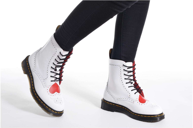 Bottines et boots Dr. Martens Bentley Blanc vue bas / vue portée sac