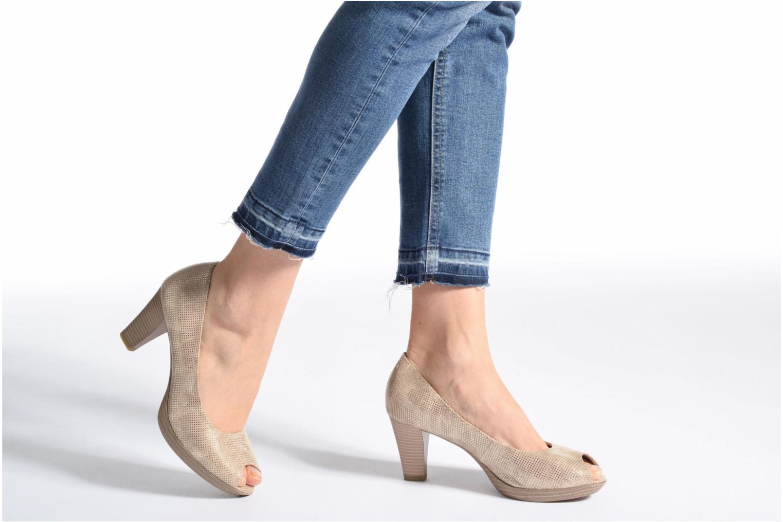 Zapatos de tacón Marco Tozzi Wose Oro y bronce vista de abajo