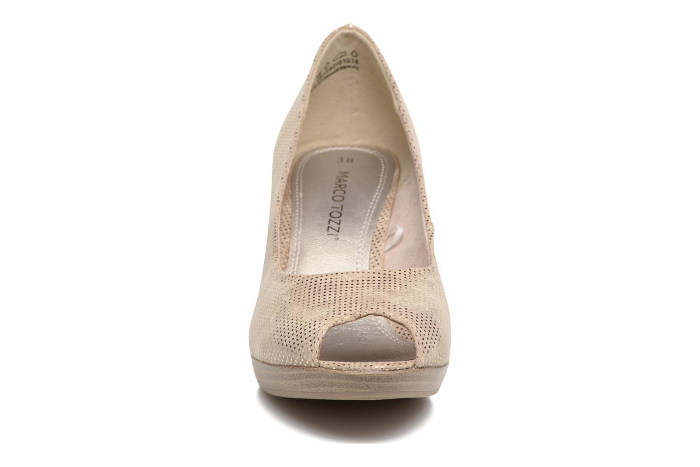 Escarpins Marco Tozzi Wose Or et bronze vue portées chaussures