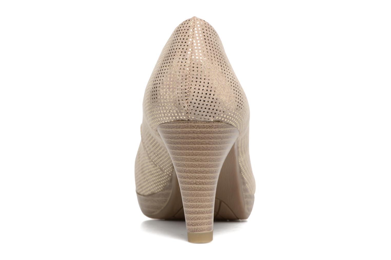 Zapatos de tacón Marco Tozzi Wose Oro y bronce vista lateral derecha