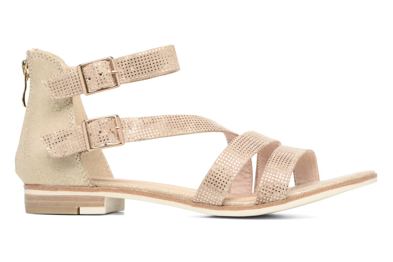 Sandales et nu-pieds Marco Tozzi Meko Or et bronze vue derrière