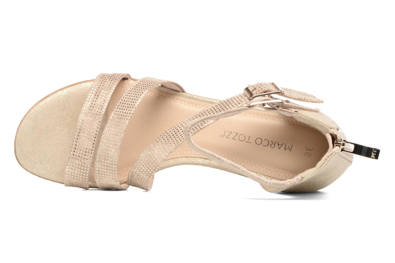 Sandales et nu-pieds Marco Tozzi Meko Or et bronze vue gauche