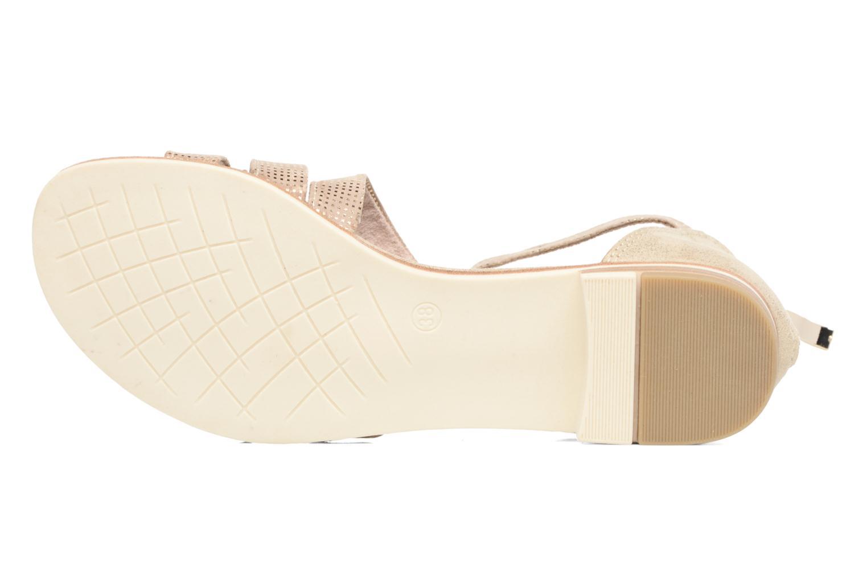 Sandales et nu-pieds Marco Tozzi Meko Or et bronze vue haut