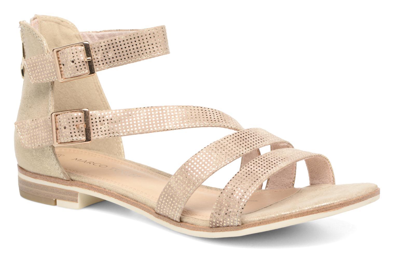 Sandales et nu-pieds Marco Tozzi Meko Or et bronze vue détail/paire