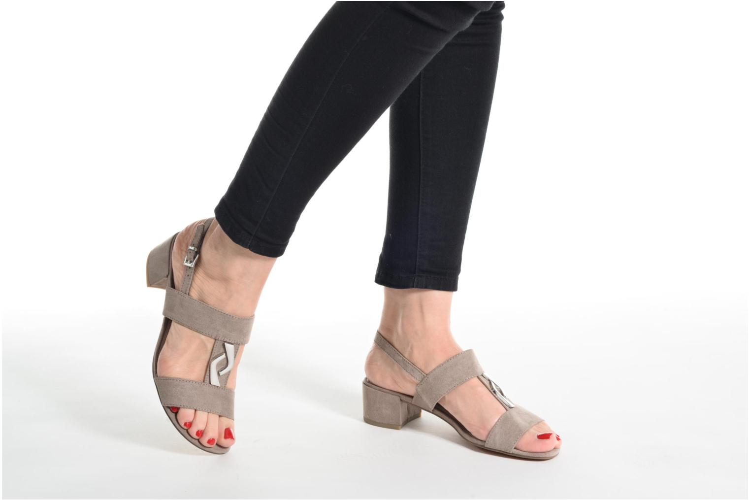 Sandals Marco Tozzi Nyla Black view from underneath / model view