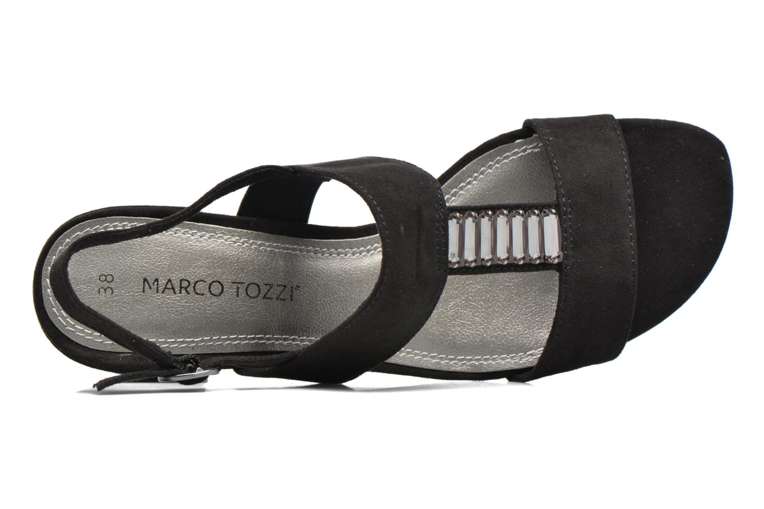 Sandals Marco Tozzi Nyla Black view from the left