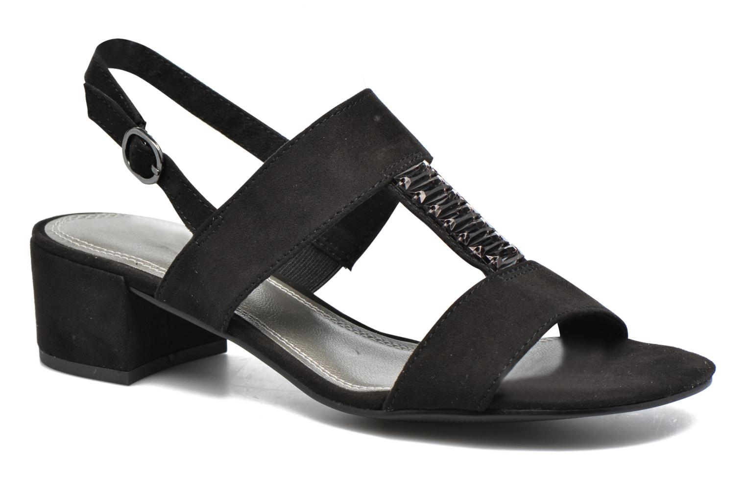 Sandals Marco Tozzi Nyla Black detailed view/ Pair view