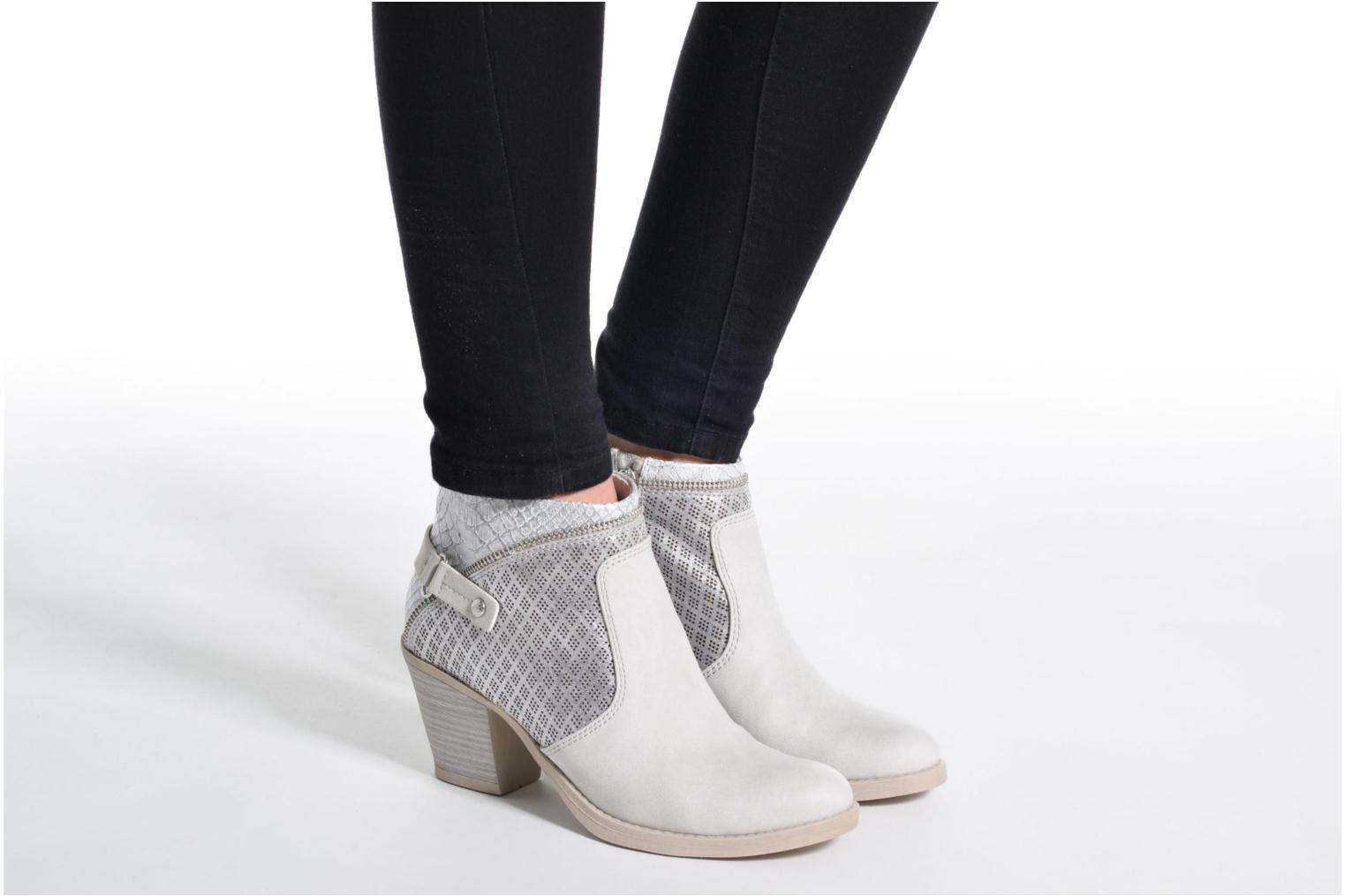 Ankle boots Marco Tozzi Tillou Grey view from underneath / model view