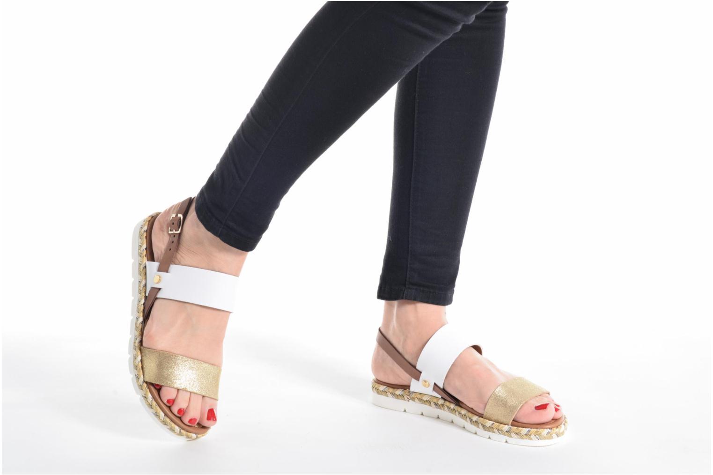 Sandales et nu-pieds Marco Tozzi Ypi Blanc vue bas / vue portée sac