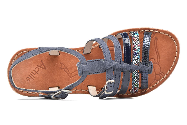 Sandales et nu-pieds Achile Bangkok Bleu vue gauche