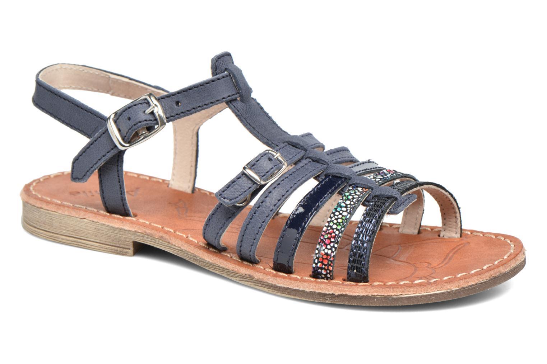 Sandales et nu-pieds Achile Bangkok Bleu vue détail/paire