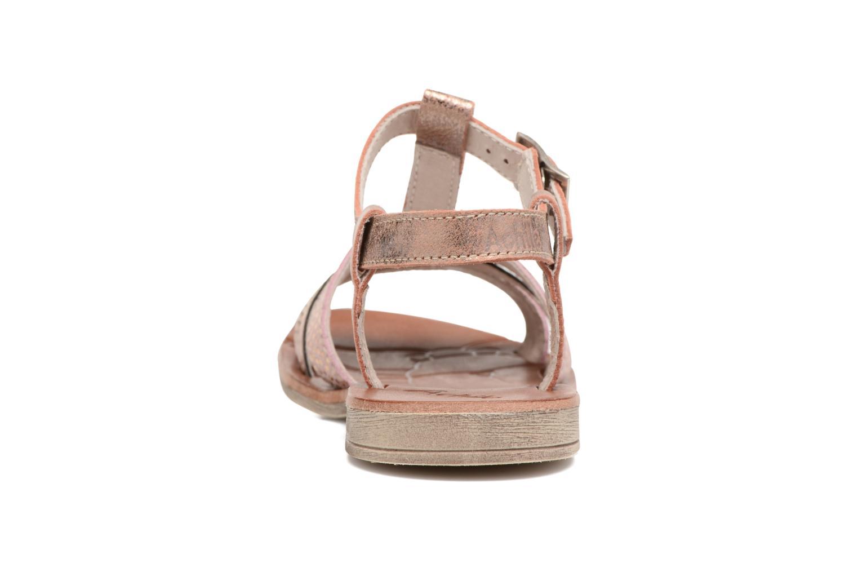 Sandales et nu-pieds Achile Kimitsu Rose vue droite