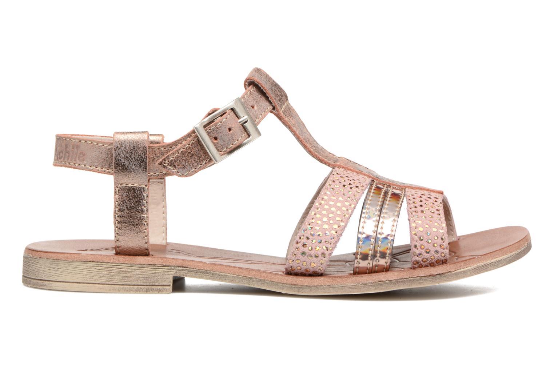 Sandales et nu-pieds Achile Kimitsu Rose vue derrière