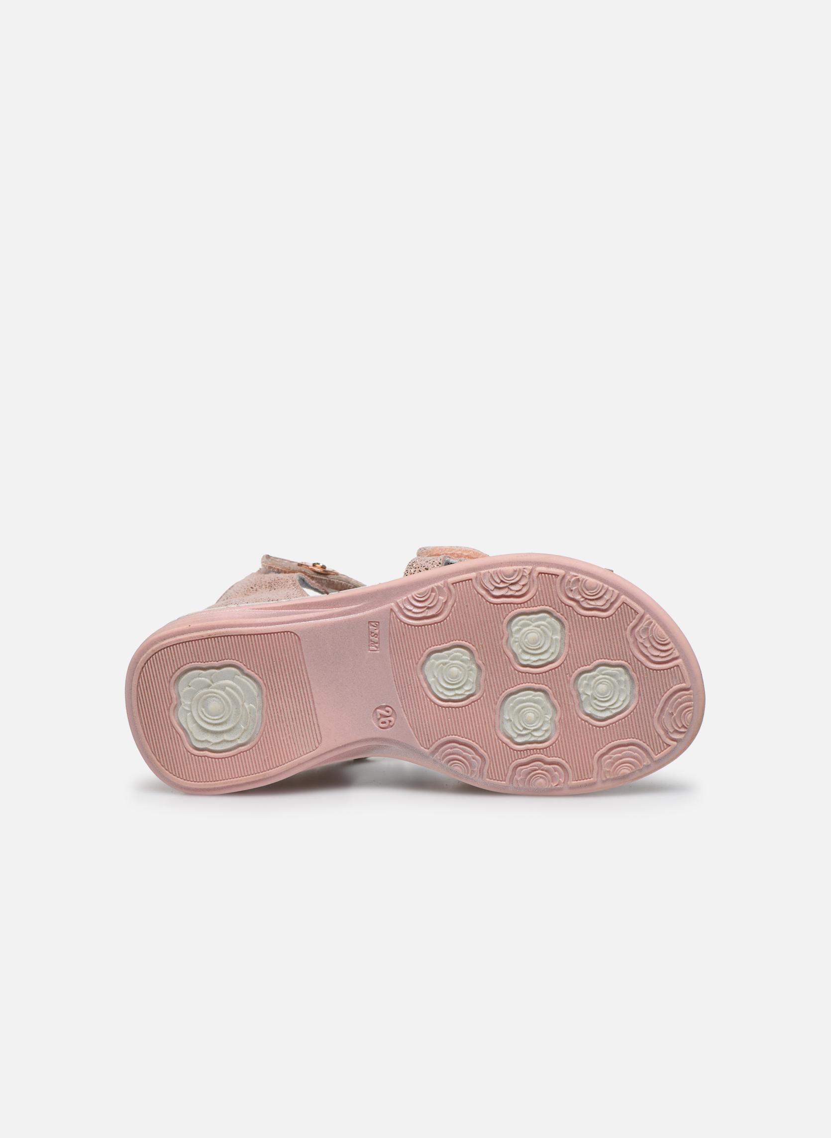 Sandales et nu-pieds Catimini Puce Rose vue haut