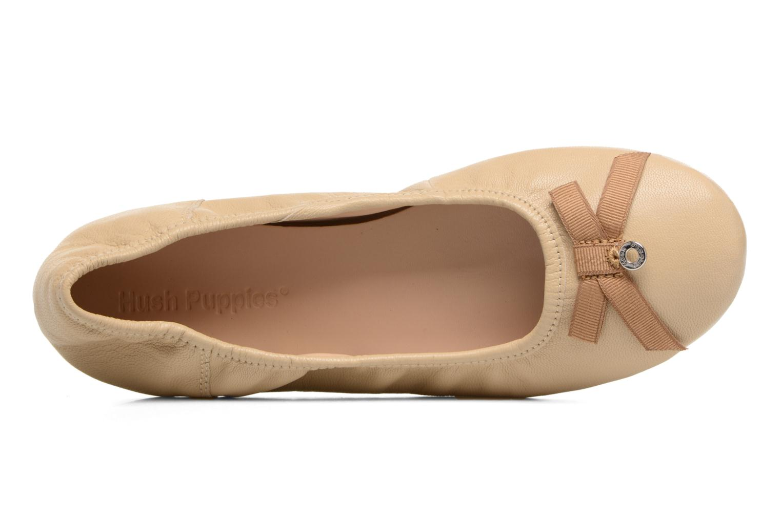 Ballet pumps Hush Puppies Lilas Beige view from the left