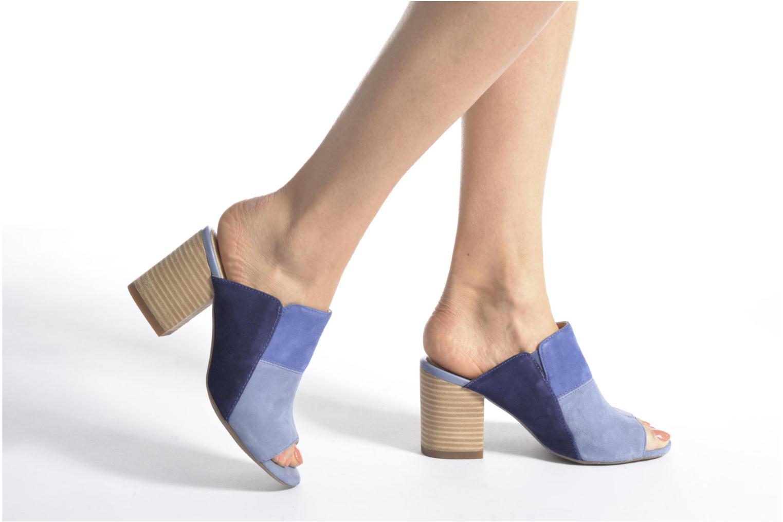 Sandales et nu-pieds Hush Puppies Sayer Bleu vue bas / vue portée sac