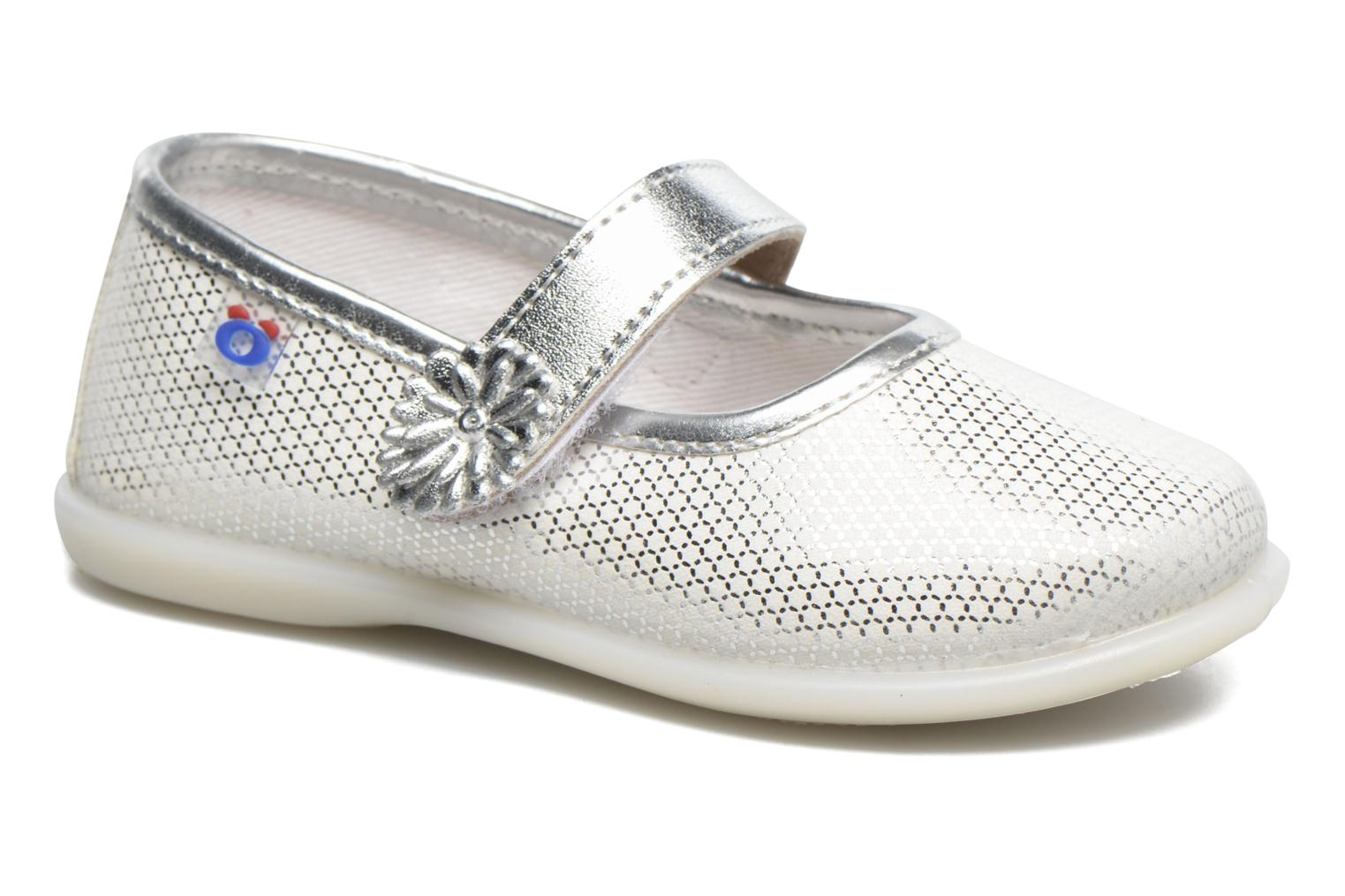Ballet pumps Osito by Conguitos Alma Silver detailed view/ Pair view