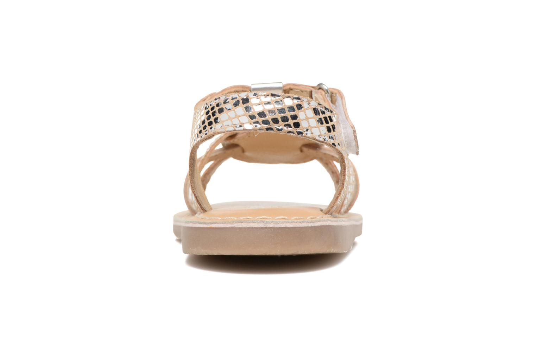 Sandales et nu-pieds Osito by Conguitos Antonella Argent vue droite