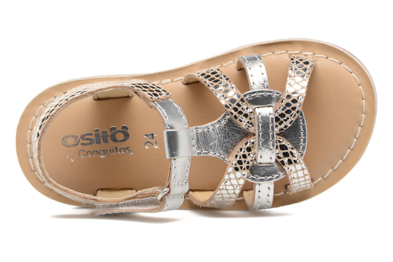 Sandales et nu-pieds Osito by Conguitos Antonella Argent vue gauche